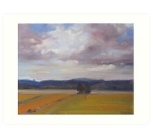 Storm approaching over Italian country Art Print