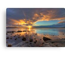 Boston Bay sunrise - Port Lincoln, South Australia (HDR) Canvas Print