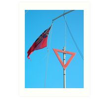 Red duster… Red triangle. Art Print