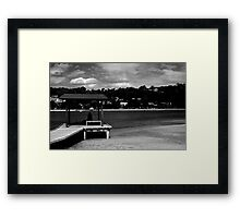 Young Man Fishing Framed Print