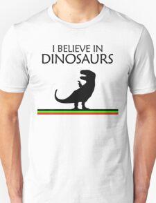 I Believe In Dinosaurs title artwork (black design) T-Shirt