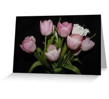 Pink & White Tulips Greeting Card