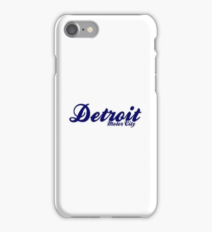 Detroit Motor city Northern Soul  iPhone Case/Skin