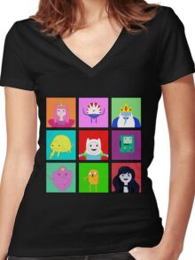 Adventure Time Portraits! Women's Fitted V-Neck T-Shirt