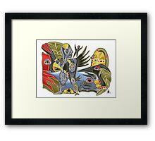 crowshe tree Framed Print