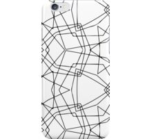 stroke geometric ornament iPhone Case/Skin