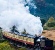 steam train in motion Sticker