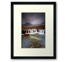Skye Swirls Framed Print