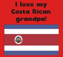 I Love My Costa Rican Grandpa One Piece - Short Sleeve