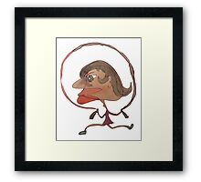 Silly Milly Jumps Rope With Her Big Fat Head Framed Print