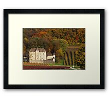 Autumn in the french vineyard Framed Print