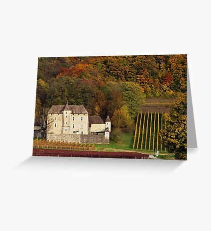 Autumn in the french vineyard Greeting Card