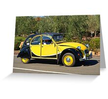 Citroen 2CV - 1982 Greeting Card