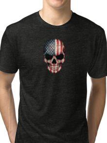 American Flag Skull Tri-blend T-Shirt