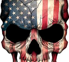 American Flag Skull by Jeff Bartels