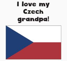 I Love My Czech Grandpa One Piece - Long Sleeve