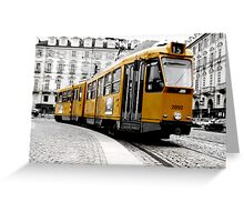 tram in to turin Greeting Card