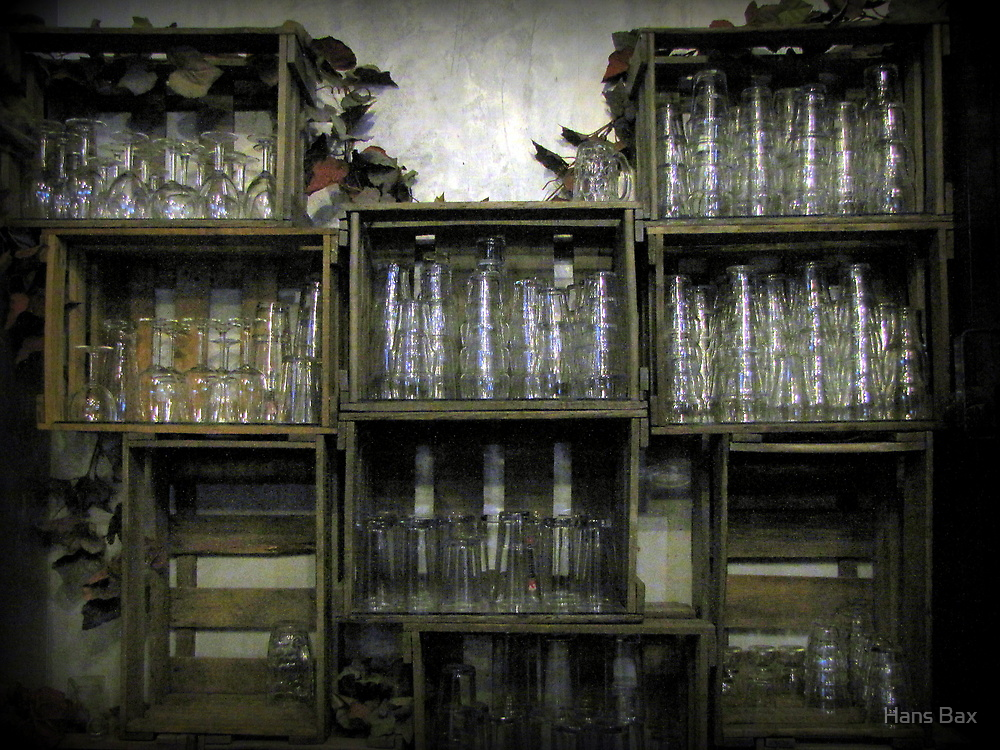 Glass Cabinet by Hans Bax