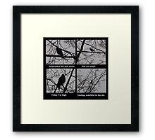 Jackdaw Poetry Framed Print