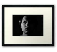 We all have a dark side... Framed Print