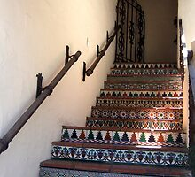 Tiled stairwell in Carmel by Marjorie Wallace