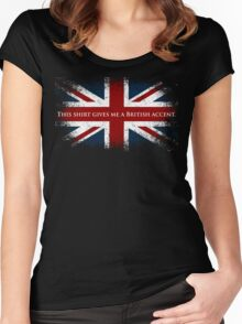 This Shirt Gives Me A British Accent Women's Fitted Scoop T-Shirt