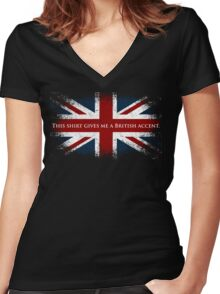 This Shirt Gives Me A British Accent Women's Fitted V-Neck T-Shirt