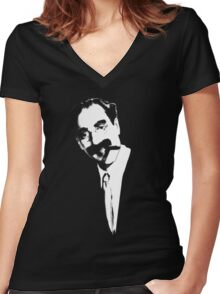 Groucho Women's Fitted V-Neck T-Shirt