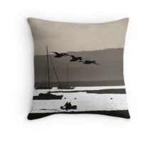 Brent geese, New Forest Throw Pillow