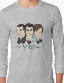 New Who Doctors: FANTASTIC! Allons-Y, Geronimo! Long Sleeve T-Shirt