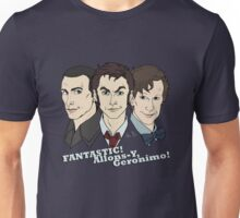 New Who Doctors: FANTASTIC! Allons-Y, Geronimo! Unisex T-Shirt