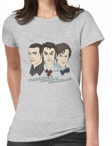 New Who Doctors: FANTASTIC! Allons-Y, Geronimo! Womens Fitted T-Shirt