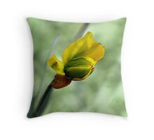 The First Daffodil Throw Pillow