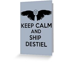 Ship Destiel Greeting Card
