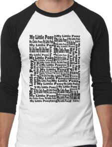 My Little Pony Typography Men's Baseball ¾ T-Shirt