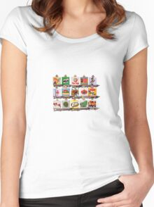 Kiwiana Food and Drink icons Women's Fitted Scoop T-Shirt