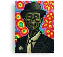 Dapper Zombie in a Bowler Hat Canvas Print