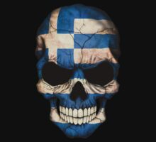 Greek Flag Skull Baby Tee