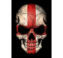 English Flag Skull Photographic Print