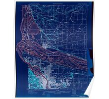 USGS Topo Map Oregon OR Portland 282794 1905 62500 Inverted Poster
