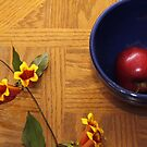 Trumpet with Blue Bowl and Apple by Jay Reed