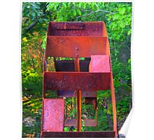 """""""Rusted Water Wheel"""" [a] Poster"""