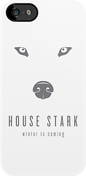 House Stark Minimalist iPhone Case by liquidsouldes