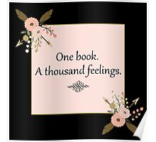 One book. A thousand feelings.  Poster