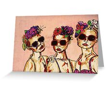 The Three Girls  Greeting Card