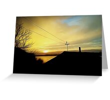 rural sunset Greeting Card