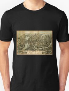 Panoramic Maps City of Norwich Conn 1876 Unisex T-Shirt