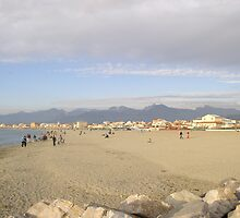 Sandy beach of Viareggio,Tuscany by sunnydreams