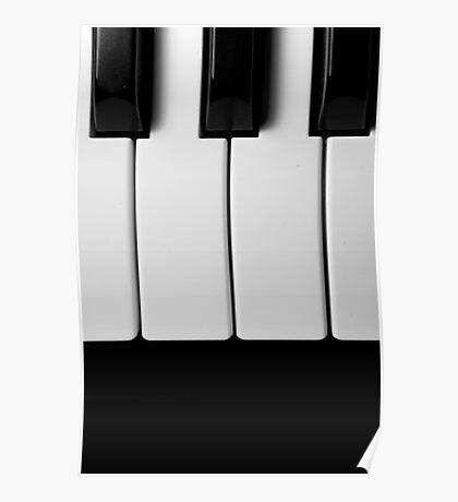 Piano Keys in Monochrome Poster