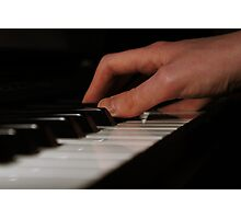 Piano Hands Photographic Print